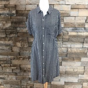 Ava & Viv Black gingham dress